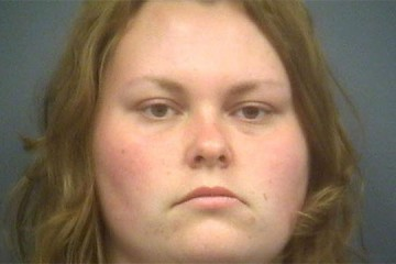 Jessie Schwaub-Devault Michigan authorities say they arrested a naked drunken woman who was driving the wrong way after leaving her naked husband and their child at a rest stop. (Clare County Sheriff's Department)