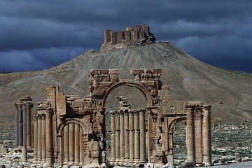 (FILES) - A file picture taken on March 14, 2014 shows a partial view of the ancient oasis city of Palmyra, 215 kilometres northeast of Damascus. Jihadists from the Islamic State group seized full control of the ancient Syrian city of Palmyra on May 21, 2015, a monitor said, putting the world heritage site at risk of destruction. AFP PHOTO/JOSEPH EIDJOSEPH EID/AFP/Getty Images