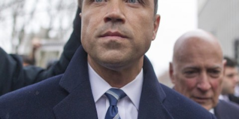 NEW YORK, NY - DECEMBER 23: U.S. Rep. Michael Grimm (R-NY) leaves US District Court on December 23, 2014 in the Brooklyn borough of New York City. Grimm pleaded guilty to one count of felony tax fraud. (Michael Graae/Getty Images)