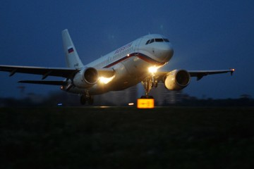 2659413 07/15/2015 A Rossiya airlines aircraft on the runway at Rostov-on-Don International Airport. Sergey Pivovarov/RIA Novosti