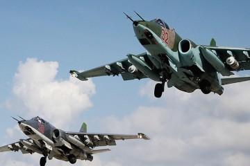 2717545 10/10/2015 Russian Su-25 attack aircraft take off from the Khmeimim airbase in Syria. Dmitriy Vinogradov/RIA Novosti