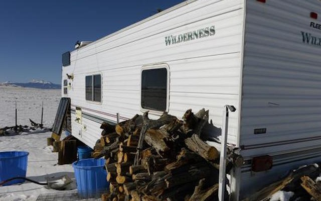HARTSEL, CO - DECEMBER 2: This is the trailer home of Colorado Springs Planned Parenthood shooter Robert Lewis Dear in Hartsel, Colorado on December 2, 2015.  Dear lived on 5 acres of open land with few neighbors in deplorable conditions. (Photo by Helen H. Richardson/The Denver Post)