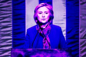 New York City - USA - February 16 2016: Democratic presidential candidate Hillary Rodham Clinton speaking at Shomburg Center in Harlem