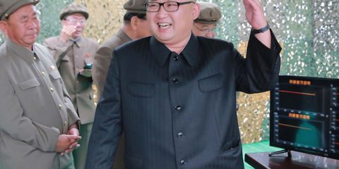 "This undated picture released from North Korea's official Korean Central News Agency (KCNA) on June 23, 2016 shows North Korean leader Kim Jong-Un (C) inspecting a test of the surface-to-surface medium long-range strategic ballistic missile Hwasong-10 at an undisclosed location in North Korea. The Musudan -- also known as the Hwasong-10 -- has a theoretical range of anywhere between 2,500 and 4,000 kilometres (1,550 to 2,500 miles). / AFP / KCNA VIA KNS / KCNA / South Korea OUT / REPUBLIC OF KOREA OUT   ---EDITORS NOTE--- RESTRICTED TO EDITORIAL USE - MANDATORY CREDIT ""AFP PHOTO/KCNA VIA KNS"" - NO MARKETING NO ADVERTISING CAMPAIGNS - DISTRIBUTED AS A SERVICE TO CLIENTS THIS PICTURE WAS MADE AVAILABLE BY A THIRD PARTY. AFP CAN NOT INDEPENDENTLY VERIFY THE AUTHENTICITY, LOCATION, DATE AND CONTENT OF THIS IMAGE. THIS PHOTO IS DISTRIBUTED EXACTLY AS RECEIVED BY AFP.  /         (Photo credit should read KCNA/AFP/Getty Images)"