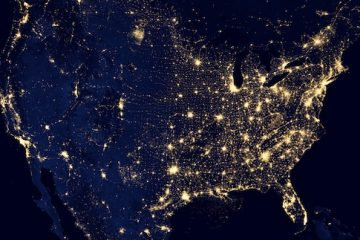 This composite image made available by NASA and assembled by data acquired from the Suomi NPP satellite in April and October 2012 uses the satellite's Visible Infrared Imaging Radiometer Suite (VIIRS), to show the U.S's lights at night. Americans are paying more to maintain the nation's electrical grid than a decade ago, but they appear to be getting little for their money from utility services that are no more reliable and in some cases seem to be getting worse. An Associated Press analysis of utility spending and reliability nationwide found that electric customers are spending 43 percent more than they did in 2002 to build and maintain local electric infrastructure. Since then, power outages have remained infrequent; but when the lights do go out, it now takes longer to get them back on.  (AP Photo/NASA)