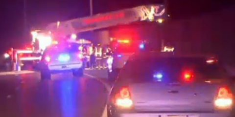 http://www.nbcnewyork.com/news/local/Wanaque-New-Jersey-Jumper-Police-Emergency-Response-Jumper-NJ-398275431.html A father lept from a bridge in New Jersey -- and took his two children with him. The father died and the children were seriously hurt, authorities said. Checkey Beckford reports. Source: NBC New York