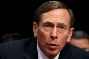 "FILE PHOTO - CIA Director David Petraeus speaks to members of a Senate (Select) Intelligence hearing on ""World Wide Threats"" on Capitol Hill in Washington in this January 31, 2012 file photo.REUTERS/Kevin Lamarque/File Photo"