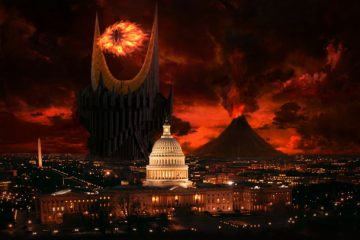 Eye of Sauron, th eus capitol, and the white house