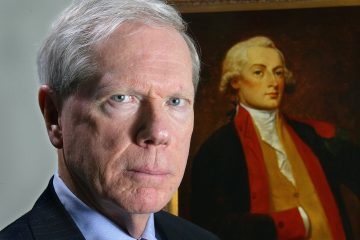 SPECIAL TO BUSINESS WEEK, MINDY KATZMAN, AUTH. EDITOR--Paul Craig Roberts in front of a portrait of Alexander Hamilton, the first Secretary of the Treasury.