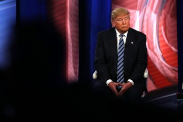 COLUMBIA, SC - FEBRUARY 18: Republican presidential candidate Donald Trump speaks at a CNN South Carolina Republican Presidential Town Hall with host Anderson Cooper on February 18, 2016 in Columbia, South Carolina. The primary vote in South Carolina is February 20.  (Photo by Spencer Platt/Getty Images)