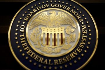 FILE PHOTO: The seal for the Board of Governors of the Federal Reserve System is displayed in Washington, D.C., U.S., June 14, 2017. REUTERS/Joshua Roberts/File Photo