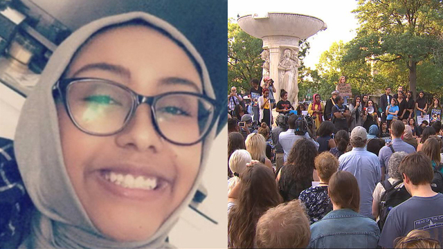 Nabra Hassanens Memorial Set On Fire In Dupont Circle Amtv